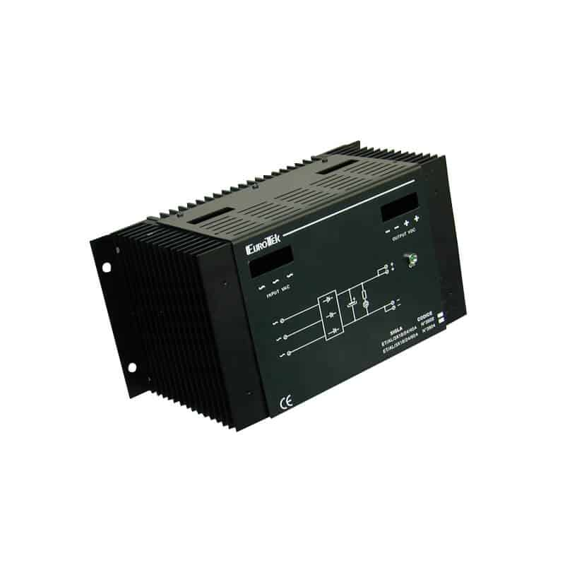 Threephase filtered power supply
